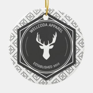 Wellcoda Apparel Big Game Hunt Stag Deer Christmas Ornament