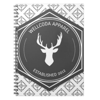 Wellcoda Apparel Big Game Hunt Stag Deer Notebooks
