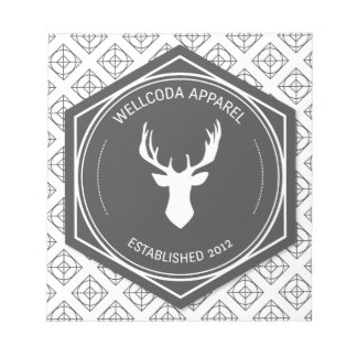 Wellcoda Apparel Big Game Hunt Stag Deer Notepad