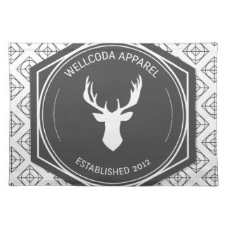 Wellcoda Apparel Big Game Hunt Stag Deer Placemat