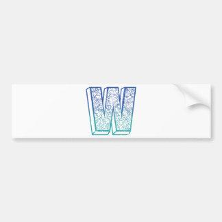Wellcoda Apparel Big Letter W Lock Key Bumper Sticker