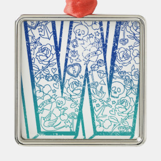 Wellcoda Apparel Big W Life Alphabet Word Christmas Ornament