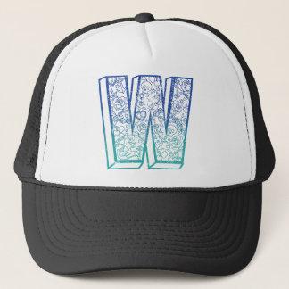 Wellcoda Apparel Big W Life Alphabet Word Trucker Hat