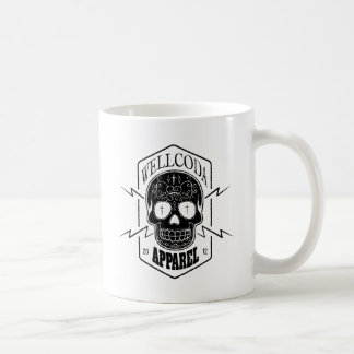 Wellcoda Apparel Candy Skull Aztec Style Basic White Mug