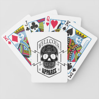 Wellcoda Apparel Candy Skull Aztec Style Bicycle Playing Cards
