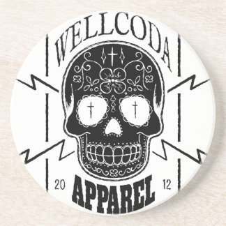 Wellcoda Apparel Candy Skull Aztec Style Drink Coasters