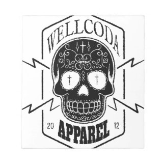 Wellcoda Apparel Candy Skull Aztec Style Notepad