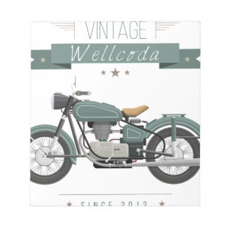 Wellcoda Apparel Chopper Life Motor Bike Notepad