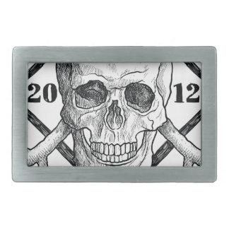 Wellcoda Apparel Dead Skeleton Pirate Sea Belt Buckles