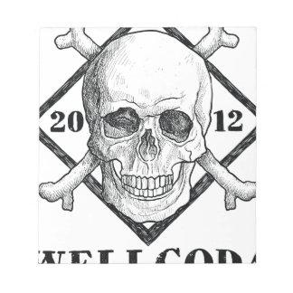 Wellcoda Apparel Dead Skeleton Pirate Sea Notepad