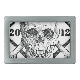 Wellcoda Apparel Dead Skeleton Pirate Sea Rectangular Belt Buckle