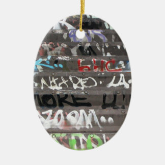Wellcoda Apparel Graffiti Life Youth Fun Christmas Ornament