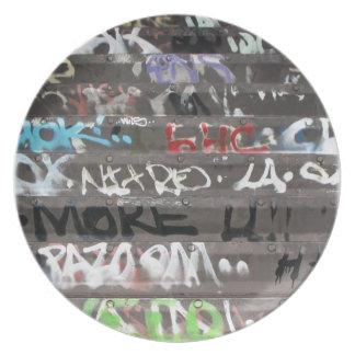 Wellcoda Apparel Graffiti Life Youth Fun Plate