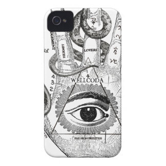 Wellcoda Apparel Hand Compass Judgement iPhone 4 Covers