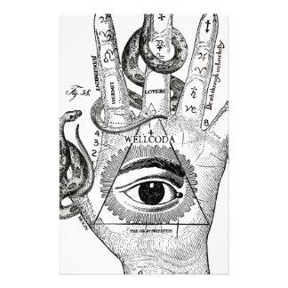 Wellcoda Apparel Hand Compass Judgement Stationery