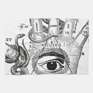 Wellcoda Apparel Hand Compass Judgement Tea Towel