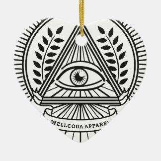 Wellcoda Apparel Illuminati Conspiracy Christmas Ornament