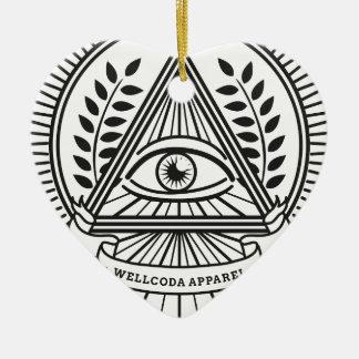 Wellcoda Apparel Illuminati Secret Life Ceramic Heart Decoration