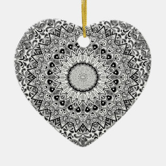 Wellcoda Apparel Indian Style Ceramic Fun Ceramic Heart Decoration