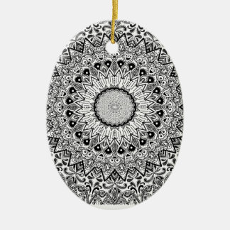 Wellcoda Apparel Indian Style Ceramic Fun Ceramic Oval Decoration
