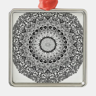 Wellcoda Apparel Indian Style Ceramic Fun Silver-Colored Square Decoration