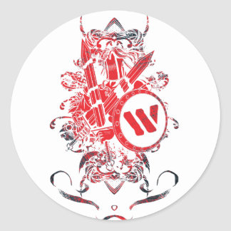 Wellcoda Apparel Mega Battle Evil Fantasy Classic Round Sticker