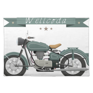 Wellcoda Apparel Motor Bike Classic Wheel Placemat