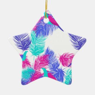 Wellcoda Apparel Parrot Forest Wild Bird Ceramic Star Decoration