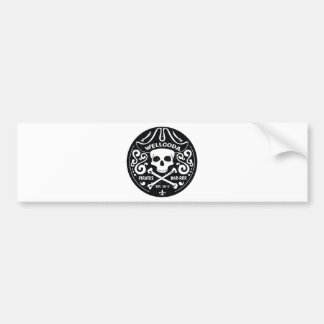 Wellcoda Apparel Pirate Bar Costume Hat Bumper Sticker