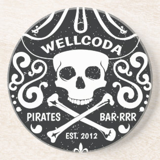 Wellcoda Apparel Pirate Bar Costume Hat Coaster