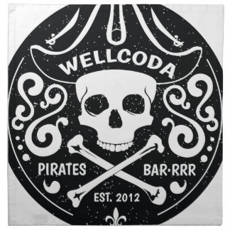 Wellcoda Apparel Pirate Bar Costume Hat Printed Napkins