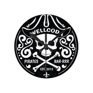 Wellcoda Apparel Pirate Bar Costume Hat Round Clock