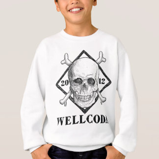 Wellcoda Apparel Pirate Skull Costume Hat Sweatshirt