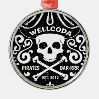 Wellcoda Apparel Pirates Bar Skull Bones Christmas Ornament