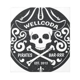 Wellcoda Apparel Pirates Bar Skull Bones Notepad