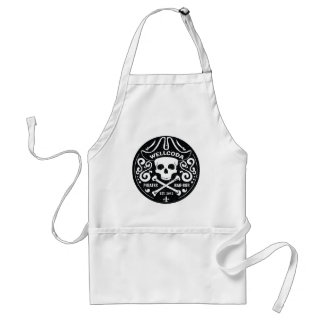 Wellcoda Apparel Pirates Bar Skull Bones Standard Apron