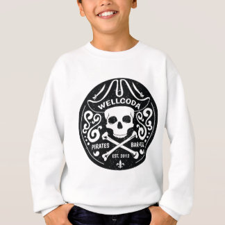 Wellcoda Apparel Pirates Bar Skull Bones Sweatshirt