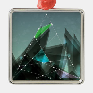 Wellcoda Apparel Shape Future Colour Wars Silver-Colored Square Decoration