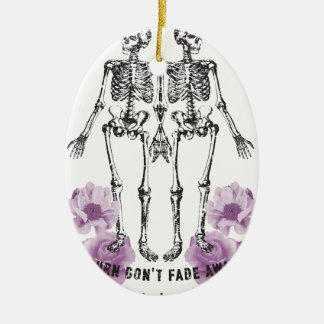 Wellcoda Apparel Skeleton Life Fade Away Christmas Ornament