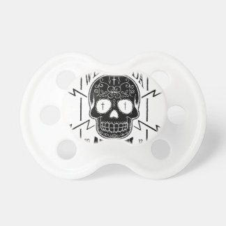 Wellcoda Apparel Skull Face Epic Death Baby Pacifiers