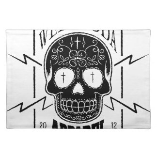 Wellcoda Apparel Skull Face Epic Death Placemat