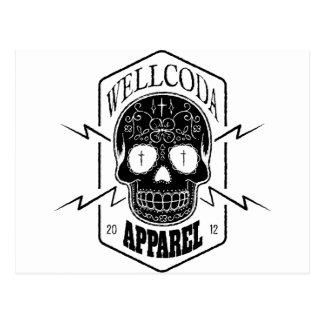 Wellcoda Apparel Skull Face Epic Death Postcard
