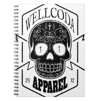 Wellcoda Apparel Skull Face Epic Death Spiral Notebook
