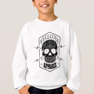 Wellcoda Apparel Skull Face Epic Death Sweatshirt