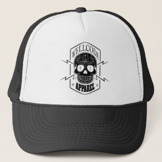 Wellcoda Apparel Skull Face Epic Death Trucker Hat