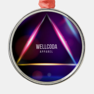 Wellcoda Apparel Solar System Crazy World Silver-Colored Round Decoration
