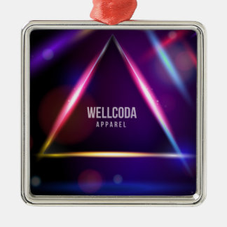 Wellcoda Apparel Solar System Crazy World Silver-Colored Square Decoration