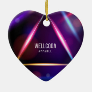 Wellcoda Apparel Solar System Star Colour Christmas Ornament