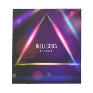 Wellcoda Apparel Solar System Star Colour Notepad