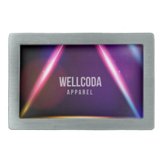 Wellcoda Apparel Solar System Star Colour Rectangular Belt Buckles